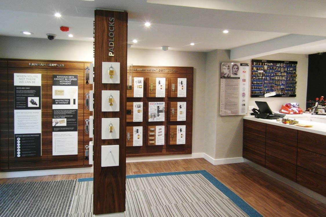 Security showroom design