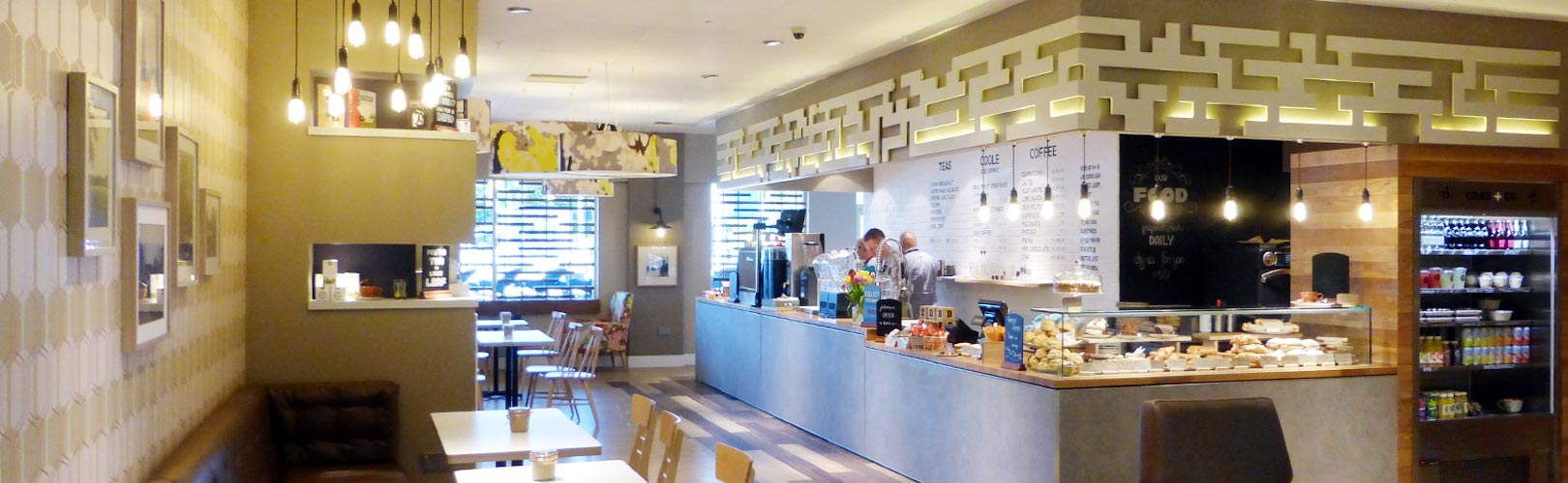 Photo: space to relax at a Harris + Hoole coffee shop
