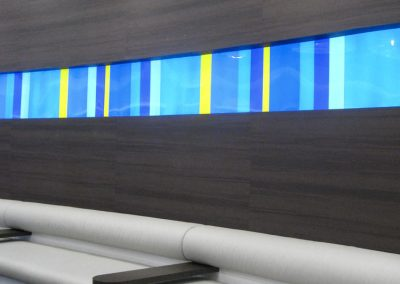Thomas Cook travel lounge curved seating area
