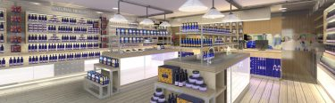 Neals Yard Organics: health shop visual internal view