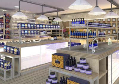 Neals Yard Organics: health shop visual internal view
