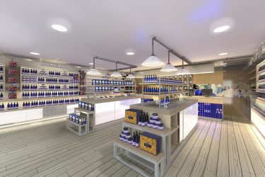 Visual: Health shop showing shelving units
