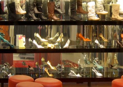 Photo: Shoe display shelves