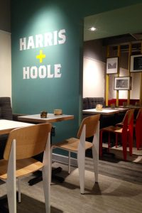 Photo: Branding on partitions and bold furniture to contrast the colour palette