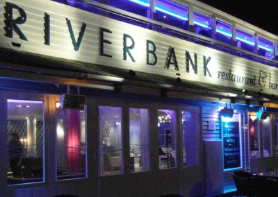 The Riverbank Restaurant - fascia sign