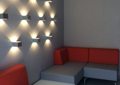 Photo: Wall lights and visitor seating