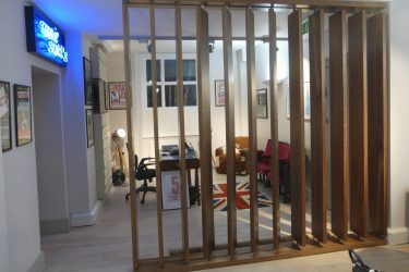 Timber partition screen