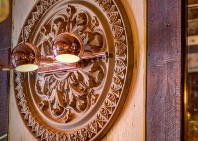 Photo: ceiling rose mounted on wall