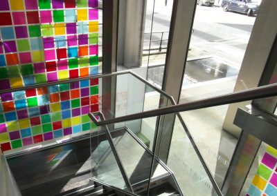 Photo: coloured glass window