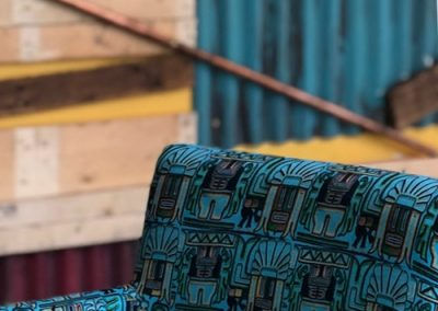 Photo: Chair with specially designed fabric