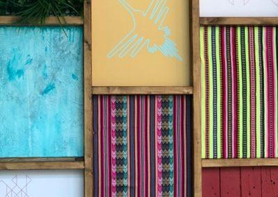 Photo: Peruvian patterned wall finishes
