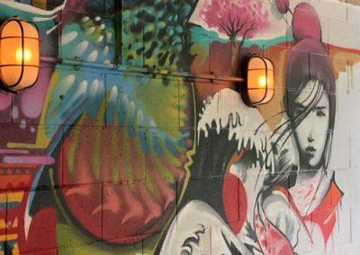 Photo: Graffiti image of hummingbird