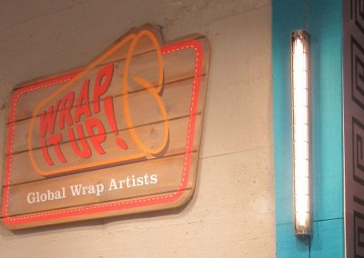 Wrap it up vintage sign