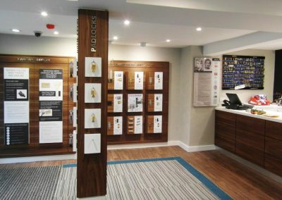 Security showroom design