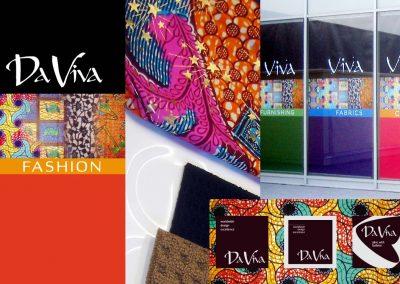 DaViva textiles: logo design