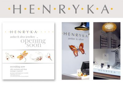 Henryka jewellers: retail branding for Henryka jewellers
