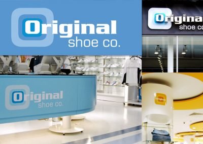 The Original Shoe Company: logo design and in-store branding