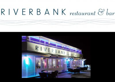 Riverbank lounge bar and restaurant: logo design