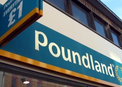 Photo: Poundland signage