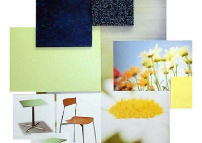 Crown Worldwide: staff cafe mood board