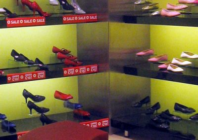 Quiz Clothing: shoe display area