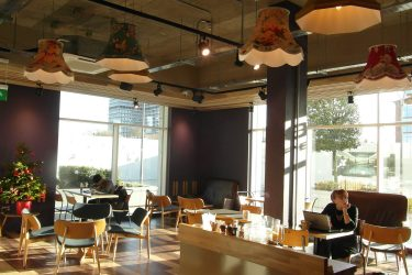internal view of coffee shop