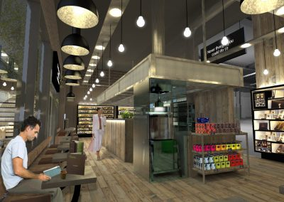 Hotel Chocolat: visual for proposed redesign of their York shop