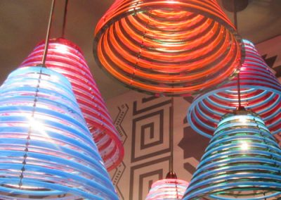 Photo: Brightly coloured light fittings