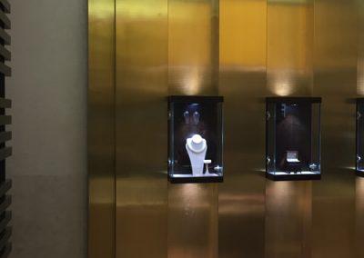 Photo: Pravins anodised copper jewellery display backdrop