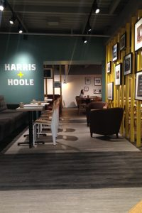 Harris + Hoole: contrasting floor finishes