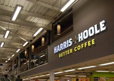 Harris + Hoole: entrance signage