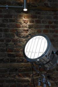 Brick wall tripod light