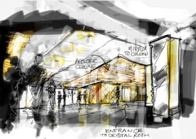 Sketch:quick drawing of room interior