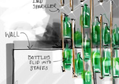 Sketch: Wine display and screen