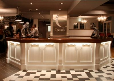 Oscars bar and restaurant - bar design and signage